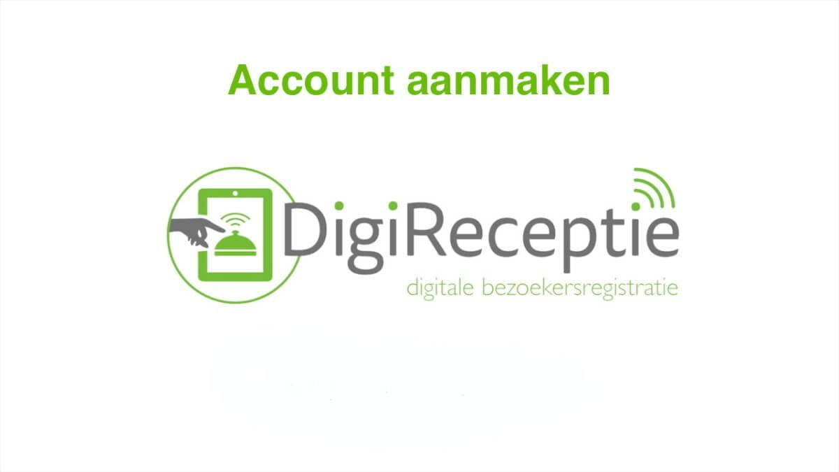 digireceptie-video-account-aanmaken